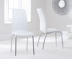 The Lauren - Round Dining Set with 4 White Chairs