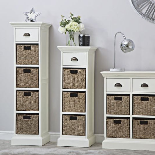 The Lexi - 1 Drawer 4 Basket Tall Storage Unit