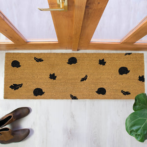 The Lucinda - Leaves & Hedgehogs Double Doormat