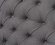 Load image into Gallery viewer, The Jacque - Chesterfield Grey Fabric Three-Seater Sofa