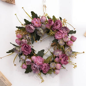 The Stella -  Spring Purple Wreath