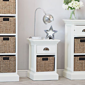 The Lexi - 1 Drawer 1 Basket Side Table