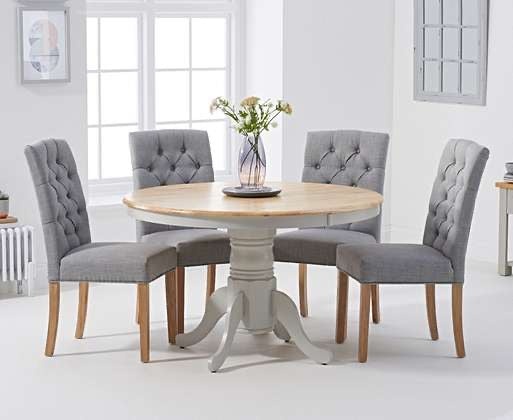 The Maisie - Oak & Grey Dining Set