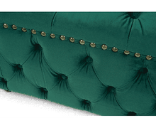 Load image into Gallery viewer, The Kinsley - Velvet Green Square Footstool