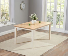 Load image into Gallery viewer, The Tessa - 150cm Oak & Cream Dining Set