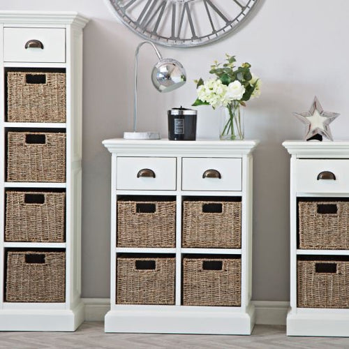 The Lexi - 2 Drawer 2 Basket Unit / Sideboard