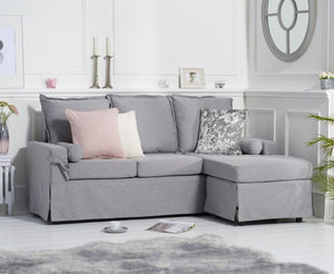 The Kylie - Grey Linen Corner Seater Sofa