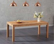 Load image into Gallery viewer, The Loretta - 180cm Solid Oak Dining Table with Fabric Benches