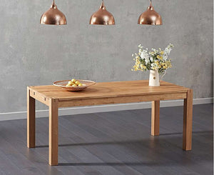 The Loretta - 180cm Solid Oak Dining Table with Fabric Benches