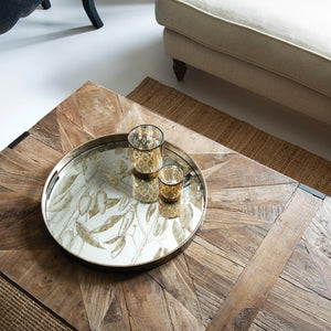 The Louisa - Mirrored Round Foliage Tray
