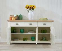 Load image into Gallery viewer, The Primrose -3 Door 3 Drawer Oak and Cream Sideboard