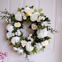 Load image into Gallery viewer, The Natalia - Peony Hydrangea Door Wreath