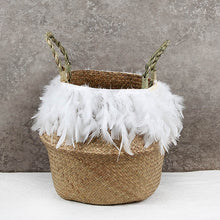 Load image into Gallery viewer, The Jordan - Feather Wicker Basket