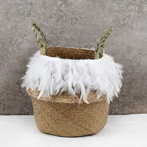 The Jordan - Feather Wicker Basket