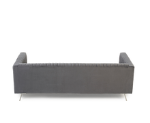 Load image into Gallery viewer, The Saffron - Grey Velvet 3 Seater Sofa