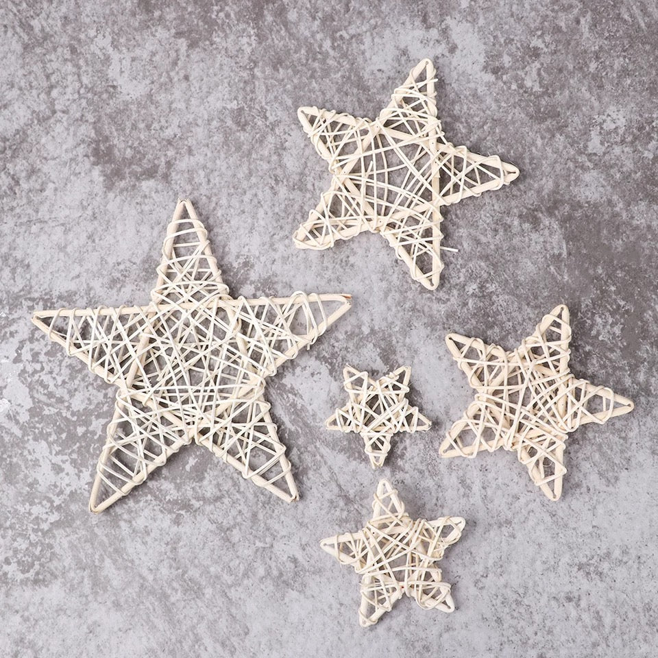 The Sarah - White Rustic Christmas Stars