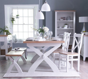 The Tracey - 180cm White Painted Extending Dining Set