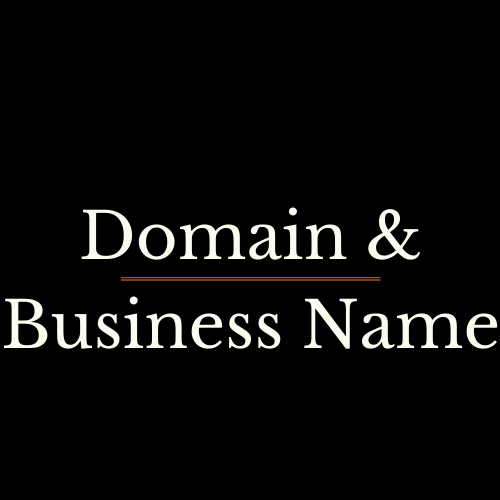 DOMAIN AND BUSINESS NAME