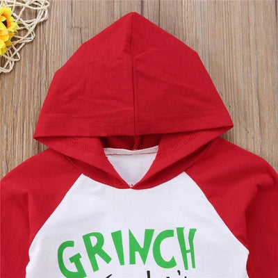 Grinch -Hooded Tops + Long Pants