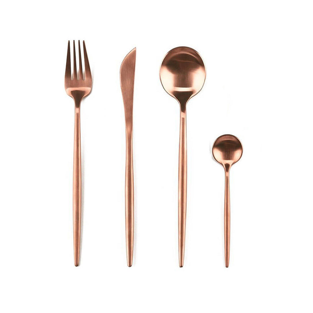 Burnt Rose / Rose Gold Cutlery Set | Statement tableware and cutlery Perth WA