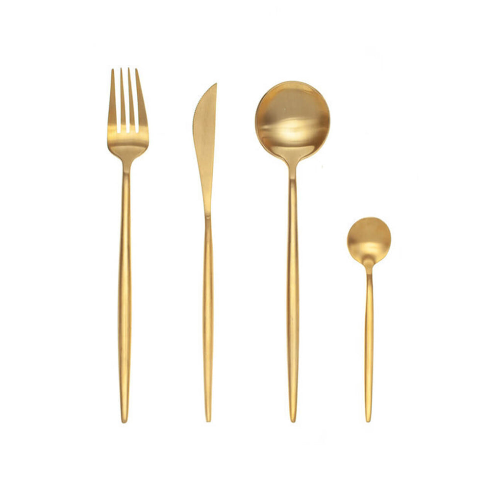 D'Oro Gold 16 Piece Cutlery Set - Statement Tableware & Cutlery - Perth WA