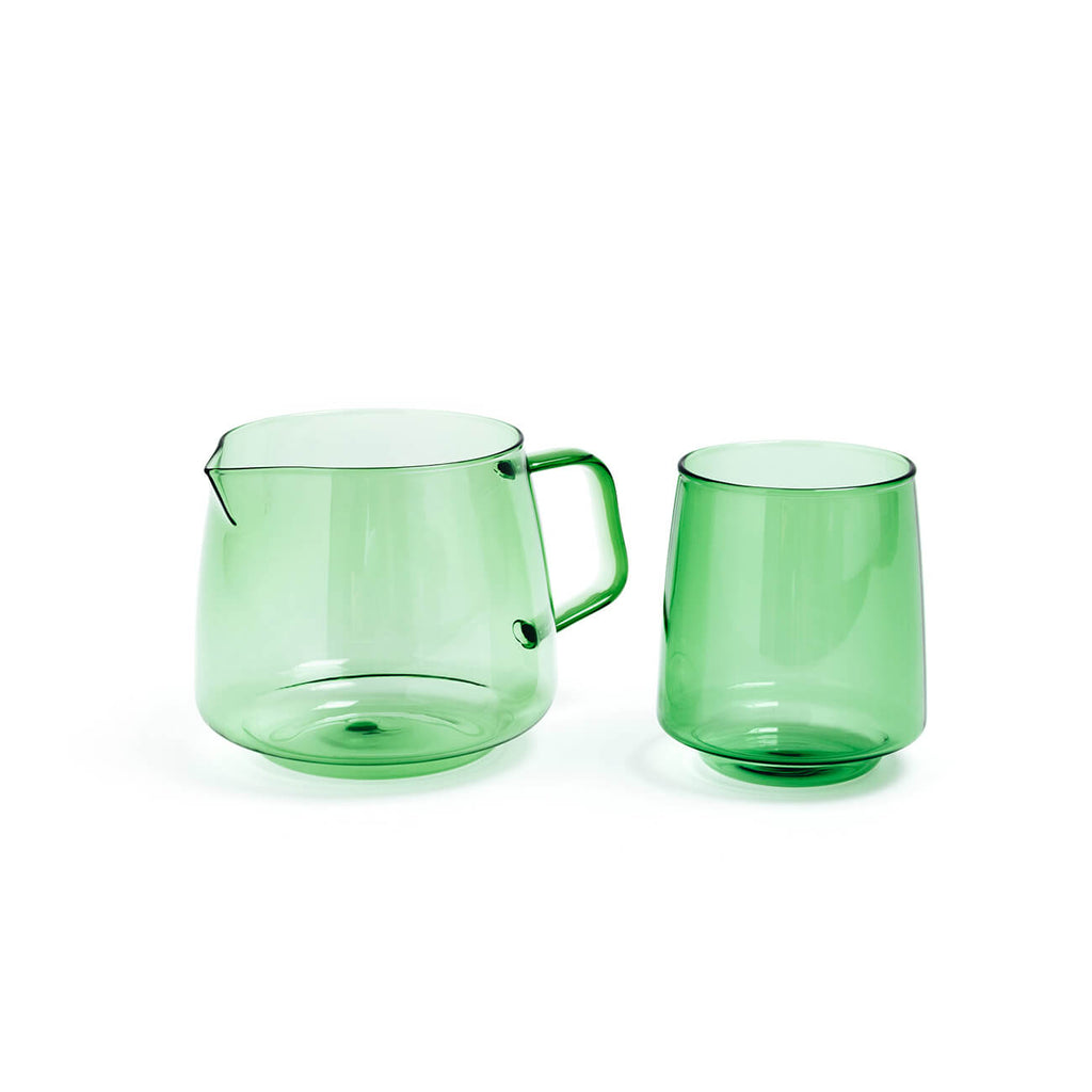 Pomelo Tea Jug & Tumbler Set - Bottle Green - Statement Tableware - Perth WA