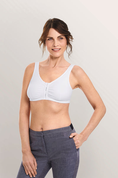 Frances mastectomy bra white