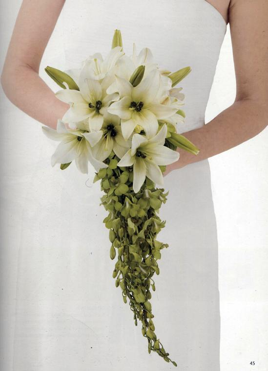 DIY Cascading Lily & Orchid Wedding Bouquet