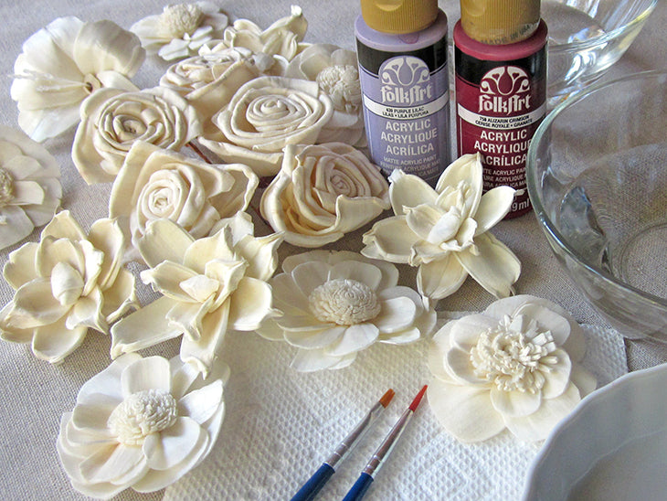 How to Paint Sola Flowers