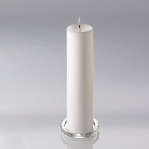 "Richland Pillar Candle 3""x12"" White Set of 6"