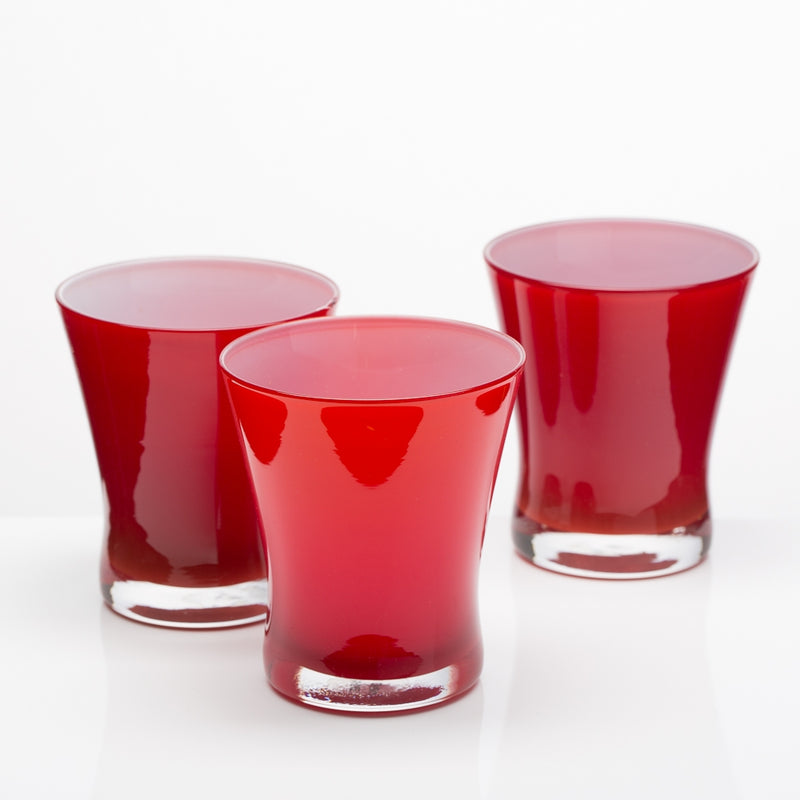Richland Radiant Candle Holder Red Set of 6
