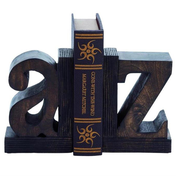 Richland Wooden Alphabet Book Ends