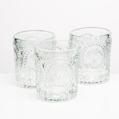 richland votive holder clear textured glass set of 48
