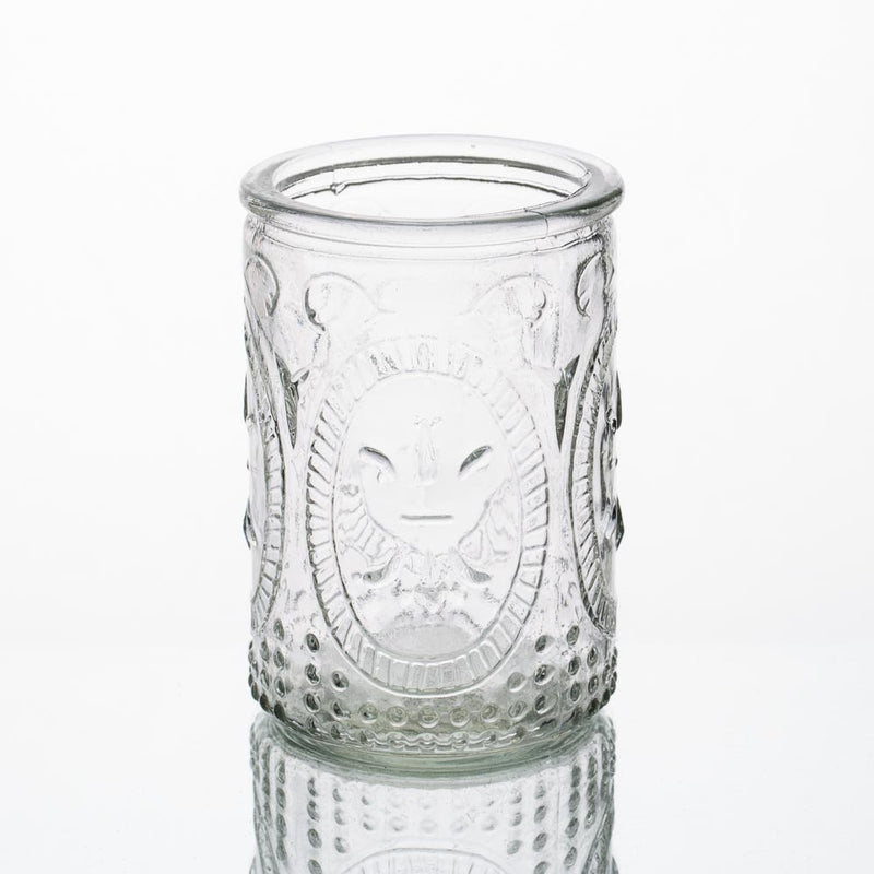 Richland Candle Holder Textured Glass Tall