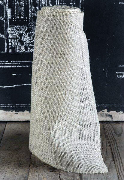 white burlap runner 14 wide x 10 yds