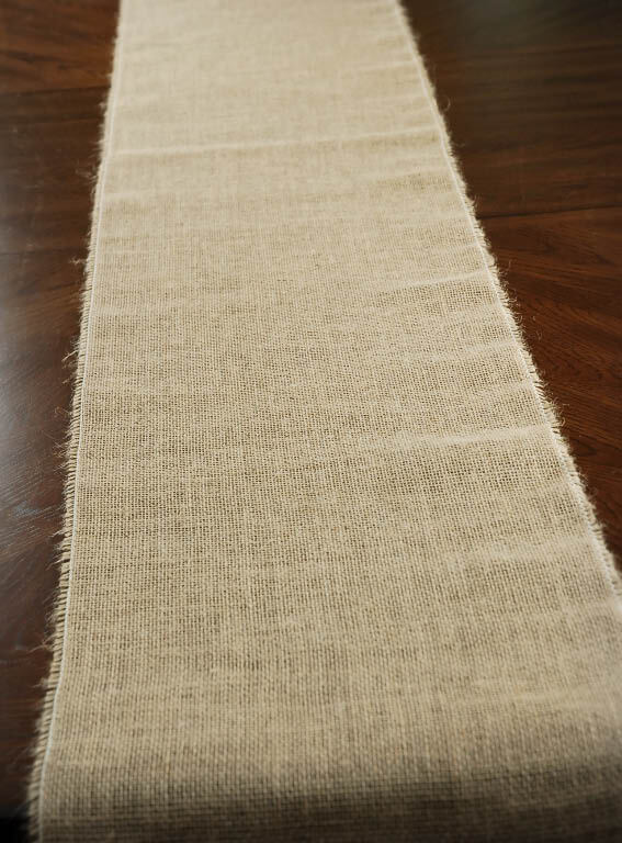 burlap table runner 12 5 wide x 96in