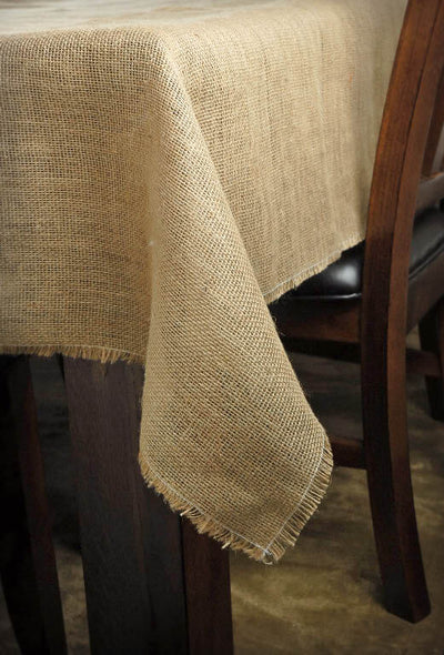 "Burlap Square Tablecloth 72"" x 72"""