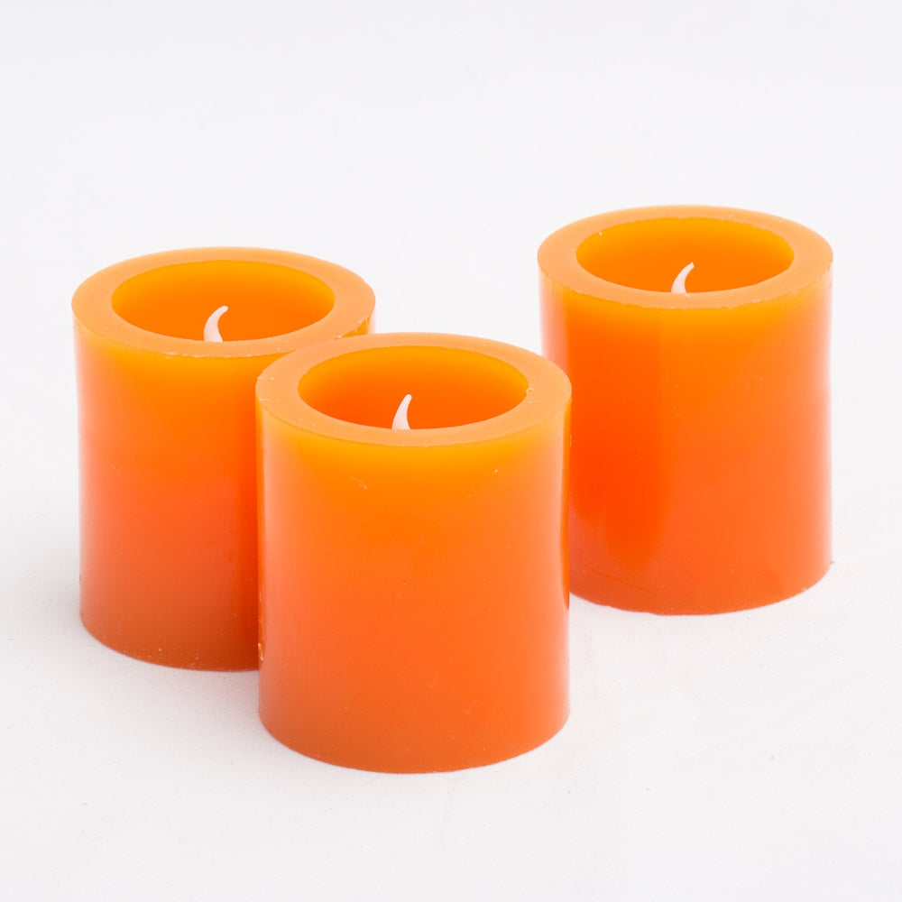 richland led votive candles orange set of 12