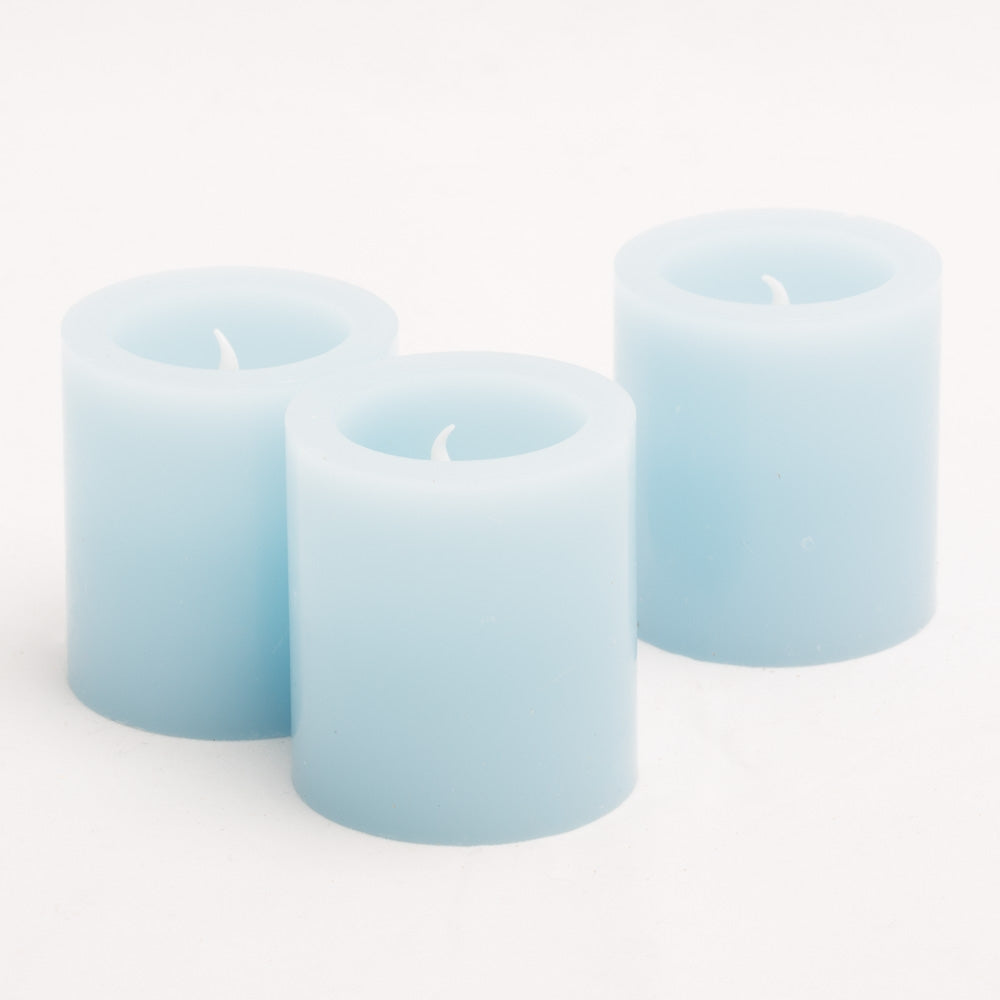 Richland LED Votive Candles Light Blue Set of 12