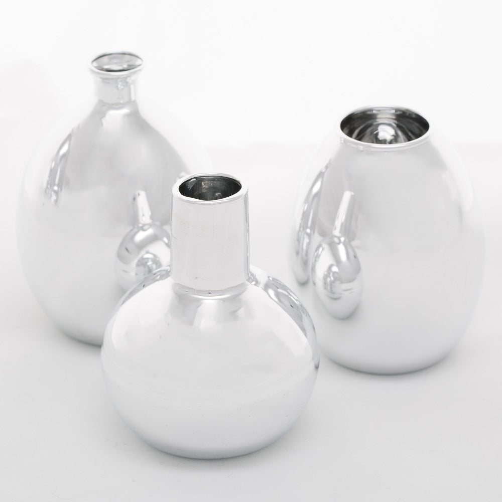 Richland Silver Mod Bud Vase Collection Set of 12