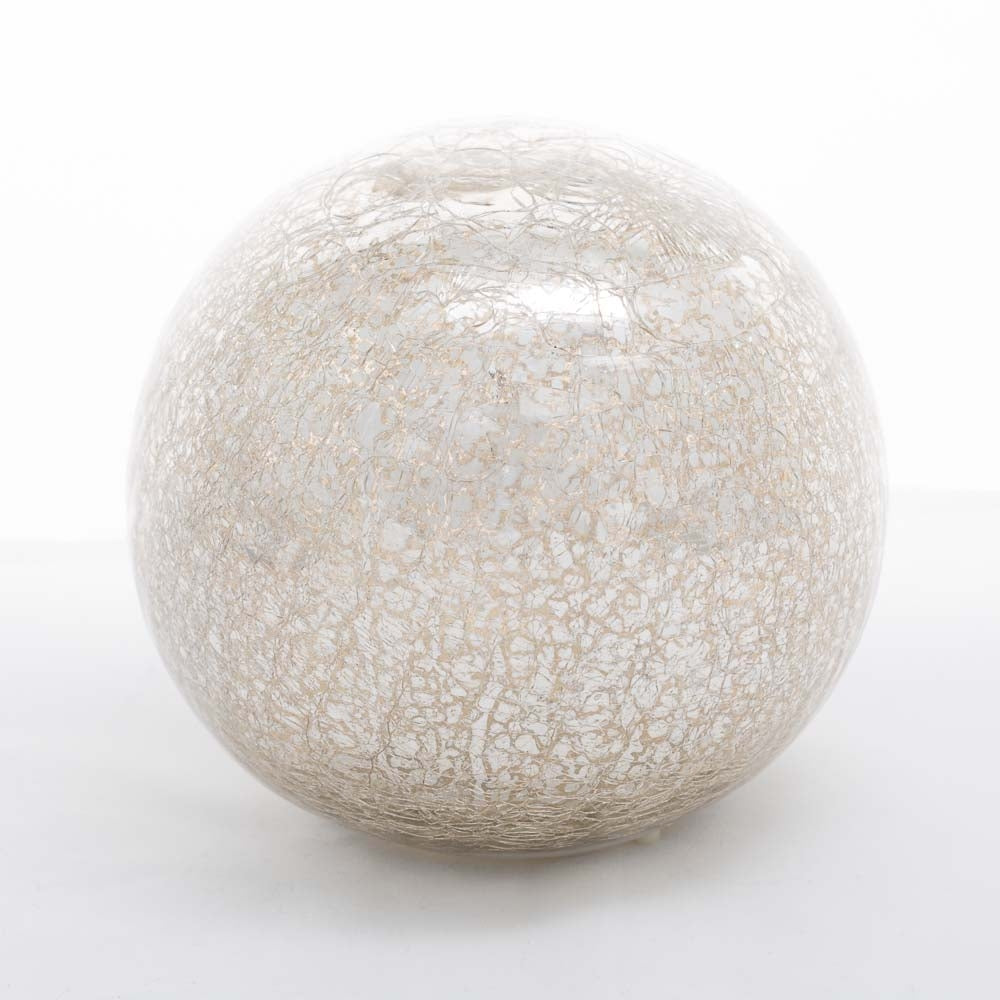 Richland Mercury Glass Sphere with LED Lights 6""