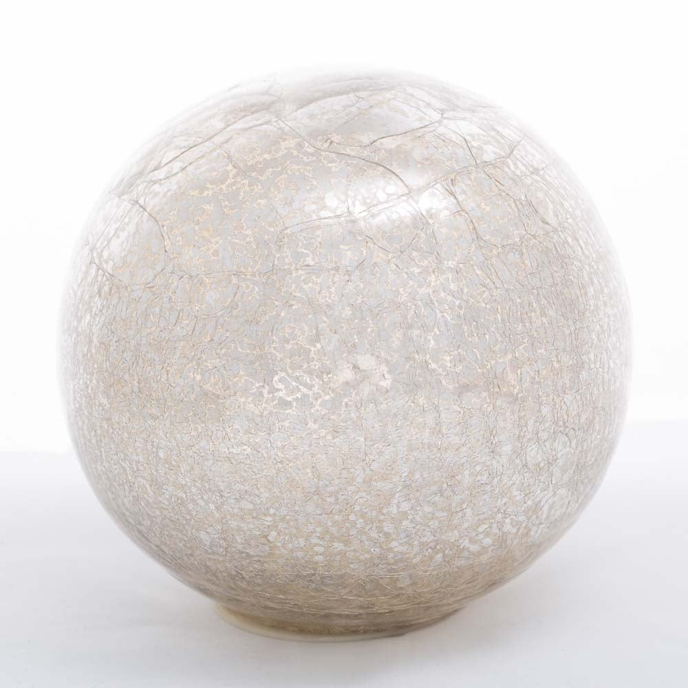 richland mercury glass sphere with led lights 8 set of 6