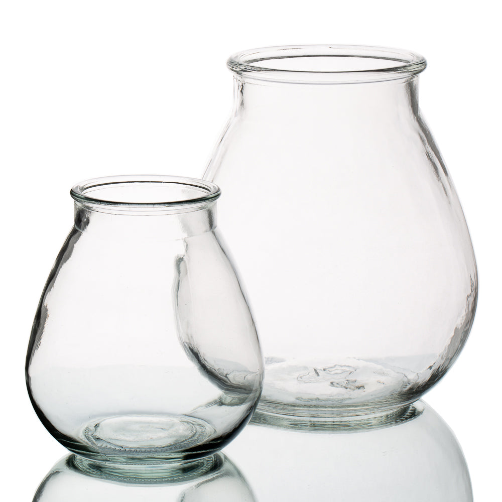 Halcyone Vintage Glass Vase Set of 2