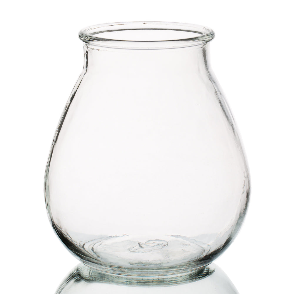 Halcyone Vintage Glass Vase Large Set of 8