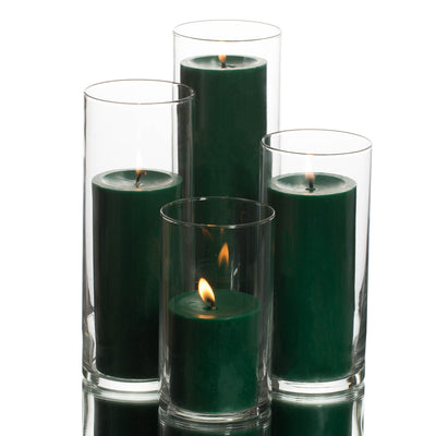 Richland Pillar Candles & Eastland Cylinder Holders Set of 48