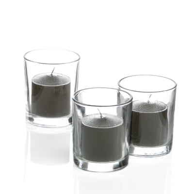 Richland Votive Candles & Eastland Clear Votive Holders Set of 12