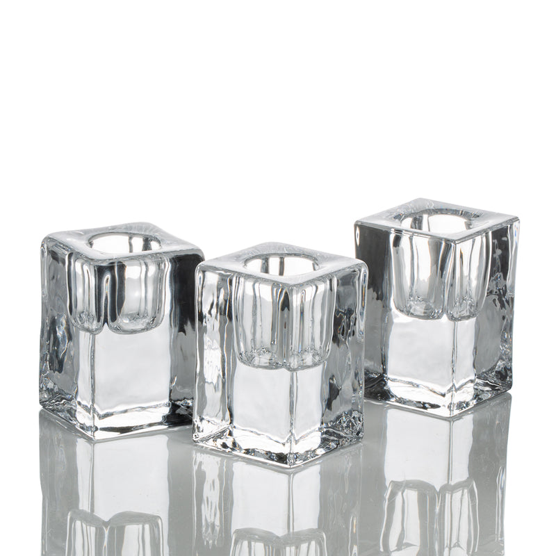 "Richland Square Glass Taper Candle Holder 2.5"" Set of 6"