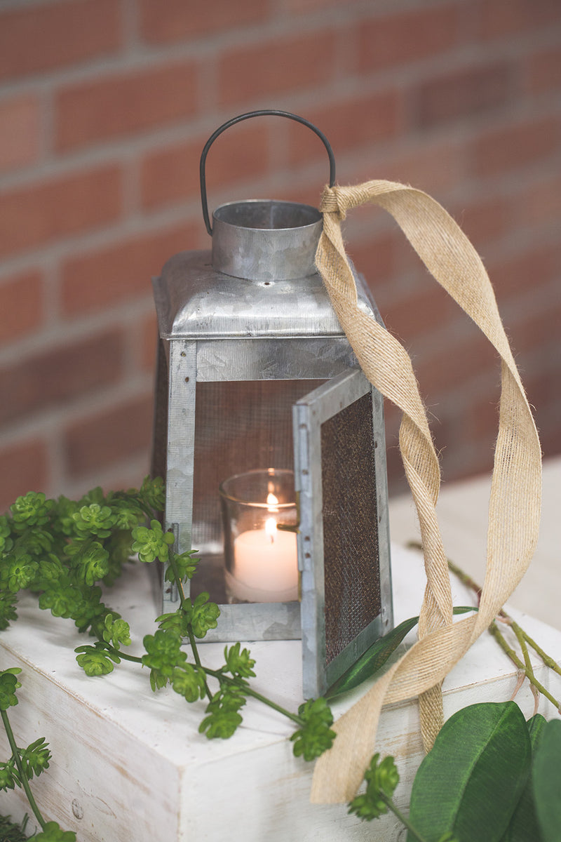 Richland Chicken Wire Galvanized Metal Candle Lanterns