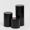 "Richland Pillar Candles 4 x4"", 4""x6"" & 4""x9 Black Set of 3"
