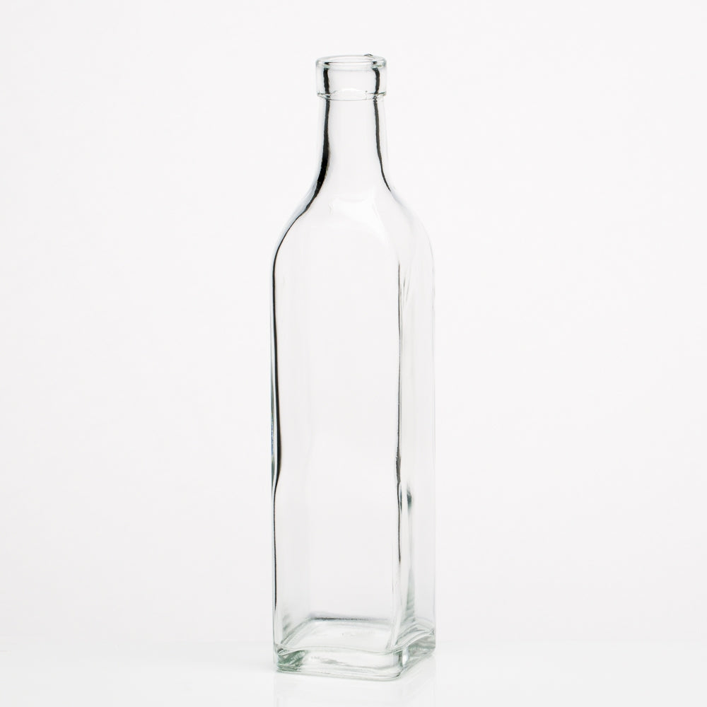 richland glass square bottle set of 6